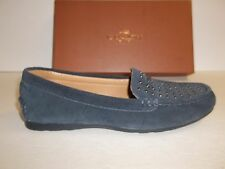 Coach Size 9 M Orlene Midnight Navy Suede Flats Loafers New Womens Shoes