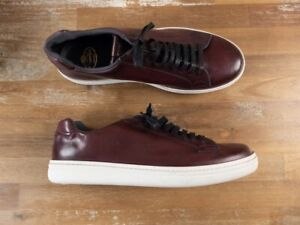 CHURCH'S Mirfield burgundy low leather sneakers - 11.5 US / 44.5 EU / 10.5 UK