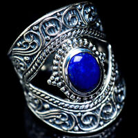 Large Lapis Lazuli 925 Sterling Silver Ring Size 8.75 Ana Co Jewelry R5867F