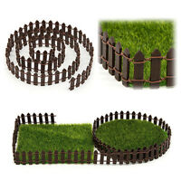 Mini Garden Ornament Miniature Wood Fence DIY Craft Fairy Dollhouse Decor Toy