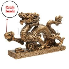 Or Chinois Feng-shui statue dragon Figurine STATUETTE AMULETTE AMULET BUDDHIST