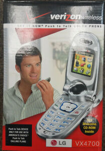 LG VX4700 - Silver (Verizon) Cellular Phone-Easy to use, push to talk, flip cell
