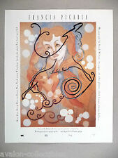Francis Picabia Art Gallery Exhibit PRINT AD - 1989 ~~ Madame Picabia