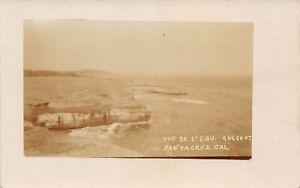 H90/ Santa Cruz California Postcard RPPC c1910 Vue De L'eau Shoreline 36