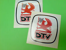 DTV & LOGO Dealer TEAM Classic Rally Motorsport Adesivi Decalcomanie 2 Largo 60mm