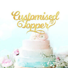 New listing Personalised Cake Topper. Happy Birthday Decorations. Any Text Customised.