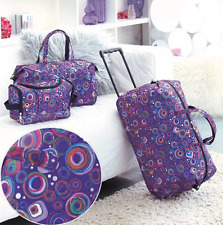Kids Luggage Sets For Girls Women Teens Toiletry Tote Rolling Duffel Bag Circles