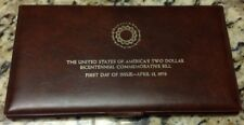 US Bicentennial Two Dollar $2 Bill in Folio, First Day of Issue April 13, 1976