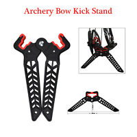 Archery Bow Kick Stand Compound Bow Stand Rack Holder Legs for Shooting Black