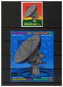 Singapore 1971 Satellite Station Set/5 Stamps SG160/4 (Sc.142/3) MUH 12-16