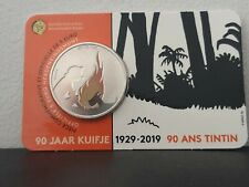 Coincard kuifje 5 euro 90 jaar Tintin 90 Ans tintin in color