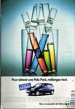 Publicité advertising 1996 VW Volkswagen Polo