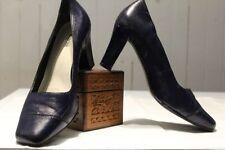 Jo Mercer Leather Heels Block