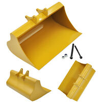 For Huina 580 23 Channel Excavator Upgrade Parts Metal Simulation Digging Bucket