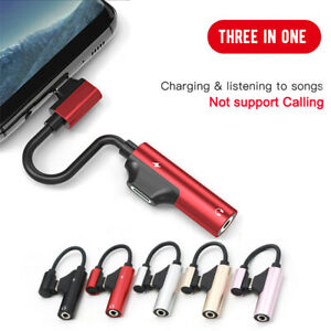 Adapter  to 3.5mm Splitter AUX Headphone Jack For iPhone 12 X MAX 7 8