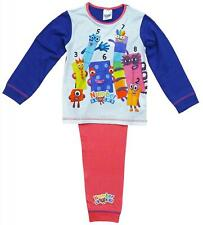Girls Pyjamas Number Blocks Pjs CBeebies Character Pajamas 18 Months to 5 Years