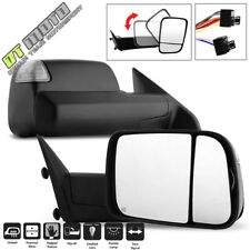 Set 2013-2017 Dodge Ram 1500 2500 3500 Power Heated Led Signal Puddle Tow Mirror