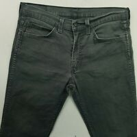 Levi's 511 Mens STRETCH Jeans W34 L31 Grey SLIM Straight