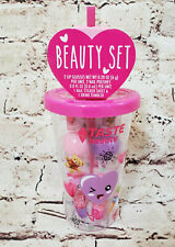 6 Piece Gift Set Girls Tumbler Cup with 2 Nail Polishes 2 Lip Gloss Stickers NEW