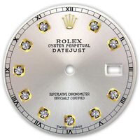 REFINED MENS 2-TONE DATEJUST SILVER DIAMOND DIAL RT FOR ROLEX-36