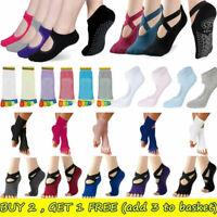 Women Girls Non Slip Socks Yoga Skid Pilates Grips Ballet Socks Fitness Exercise