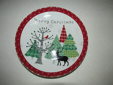 "222 Fifth ""Merry Trees"" With Deer Mini Christmas Appetizer/Dessert Plates"