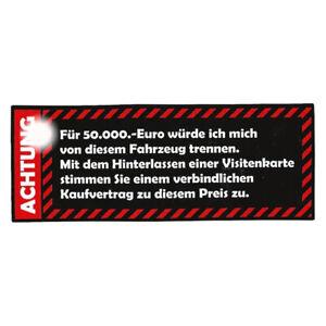 Achtung Aufkleber Sticker Warning OEM JDM Auto Youngtimer Oldtimer Tuning Ratte