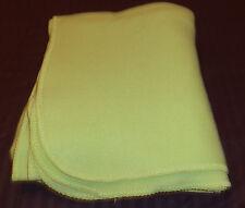 "Lime Green Polyester Fleece Fabric Throw Blanket Nice  60 "" X 49"" EUC"