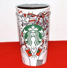 Starbucks 2017 Christmas Holiday Red Tumbler Ceramic Coffee Mug Siren Peace New
