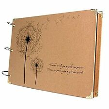 SiCoHome Scrapbook Vintage Photo Albums Dandelion Printed Surface Ideal