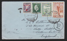 Greece 1937 Expres Cover Aghnon Athens to North Shields Northumberland England