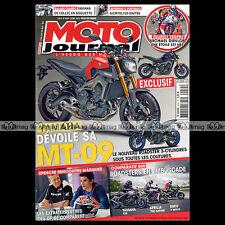 MOTO JOURNAL N°2054 APRILIA SHIVER YAMAHA FZ8 TRIUMPH TIGER TOURIST TROPHY 2013