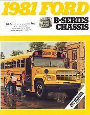 1981 Ford B-Series School Bus Brochure  B-600 B-700
