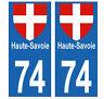 autocollants plaques immatriculation auto Département 74  HAUTE-SAVOIE