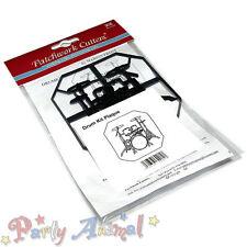 Sugarcraft Patchwork cutters- Drumkit Plaque Cutter