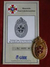 Göde Orden Freistaat labbro caratteri promemoria per meriti per feuerlöschwesen