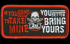 HOMELAND SECURITY 2ND AMENDMENT BRING YOUR SKULL GUN  PATCH