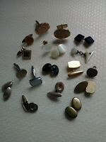 MOSTLY VINTAGE JOBLOT OF ODD CUFFLINKS FOR ARTS & CRAFTS