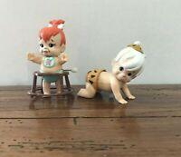 Burger King Happy Meal Toys Fred Flintstone & Pebbles Wind Up Walking Figure