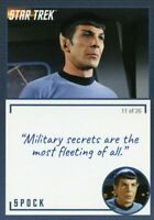 Star Trek TOS Archives & Inscriptions card #2 Spock Variation 11 out of 26