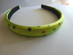 Haarreif neon gelbgrün Sternchen bunt farben  Zenner