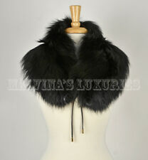 GUCCI FOX FUR STOLE SCARF COLLAR 298010 SELF-TIE SIGNATURE HARDWARE