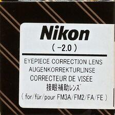 Nikon FM3A/FM2/FA/FE Eyepiece Diopter lens -2 Genuine
