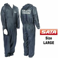 Genuine SATA 143255 Large L Grey Paint Overalls Elasticated Wrists/ankles