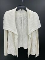 cAbi Womens Size Small White Open Knit Long Sleeve Cardigan Sweater
