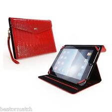 Tuff-Luv Patent Croc Leather Purse New iPad Case Cover Stand Retina Red 17_12