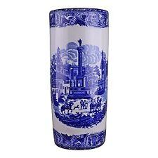 Umbrella Stand Ceramic Brolly Stick Holder Storage or Vase Townscape Design 46cm