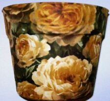 STUNNING YELLOW ROSE GARDEN THEMED PLANTER FLOWERPOT PARTY GIFT BASKET CONTAINER