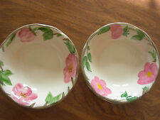 Franciscan China DESERT ROSE Set of Two Berry/Dessert BOWLS - 5 1/2 in. - MINT!
