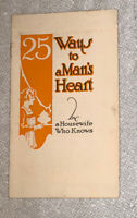 """Vintage 1920s A-1 Sauce """"25 Ways To A Man's Heart"""" Recipes Advertising Booklet"""